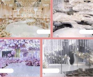 New white color mirror wedding carpet aisle runner 1M 1.2M 1.5M 2M wide dance floor christmas carpet wedding backdrop Decorations supplies