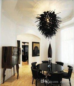 cgjxs klassische Art-Schwarz-Farbe Blown Murano Glasleuchter Leuchten Tisch Top-Mittel Kronleuchter Beleuchtung zum Verkauf