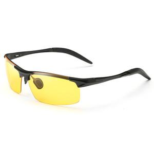 FONDYI Atacado Night Vision condução óculos de sol UV400 Top Seliing Meio aro Vidros frescos Óculos Fashion Designer com caso