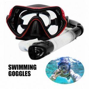 UV Waterproof Anti Fog Swimwear Eyewear Swim Diving Water Glasses Snorkel Set Panoramic Wide View Anti-Fog Scuba Diving Mask smf8#