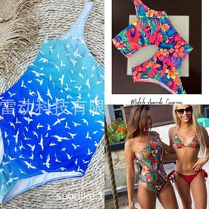 tWsUs одно плечо Body 2020 купальник цельный одежды одежды тела новый sporlike купальник печататься один кусок