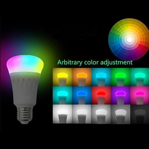Wifi Smart Led Light Bulb Dimmable Multicolored Color Smart Led Lamps 7w E27 Bulbs Works With Amazon Alexa Remote Control