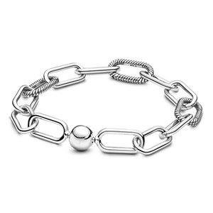 Memnon Jewelry 2019 New silver 925 Sterling Me Link Bracelets for women Fit Small Hole Charms Beads For Women Original DIY Jewelry Gift