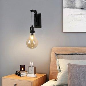 Retro Loft Glass LED Wall Lamp For Bedroom Vintage Sconce Wall Light Fixture Designer Wall Lighting For Corridor Living Room
