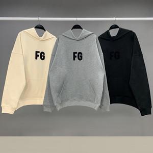 Temor de Dios capucha FG logotipo bordado de toallas con capucha Esencial suéteres Fleece con capucha Mujer Streetwear Hip hop Kanye Hombres Hombre sudaderas con capucha de invierno