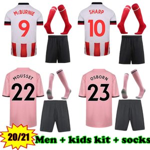 2020-21 Sheffield United Maillots de football hommes soccer shirt enfants kit Jersey 20/21 Sheffield kits chemise de football + chaussettes