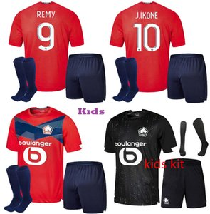 Kids Kit Losc Lille New 2020 2021 Soccer Jersey Remy Fonte Bamba Yazici Mailleot De Foot 19 20 21 Maillot Losc Maillots de Football Company