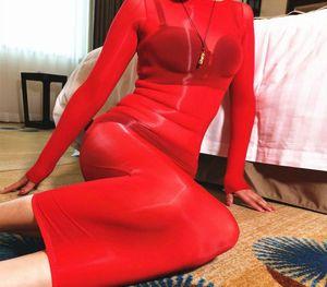 مثير 8D المصقول النفط لامعة المرأة شير تخزين الجسم للالهيئة غير الرسمية من خلال الاطلاع على الحرير BODYSUIT Bodyhose الخطوة اللباس M2700