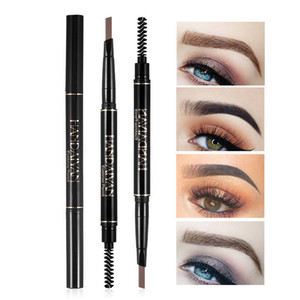 1PC Dual-ends Rotatable Eyebrow Pencil Triangle Waterproof Long Lasting Eyebrow Tattoo Paint Natural Black Brown Beauty Cosmetic