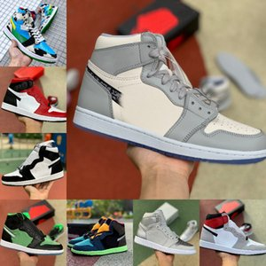 2021 Cheap New 1 1s scarpe da basket Snake raso Uomini Donne TWIST Mid brevetto Tie Dye UNC a Chicago Banned Metallic Gold Giappone Tokyo Trainer