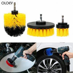 OLOEY Autowaschbürste Hart Borste Drill Scrubber-Bürsten-Kit Auto-Pflege Reinigung Auto Care-Reinigungs-Tools IWTL #