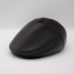 Kış Şık Yeni Erkek Şapka Yün Kalın Men Kulaklık Erkekler Kemik DAD Şapka Trucker Kış Şapka ile Berets ısıtın