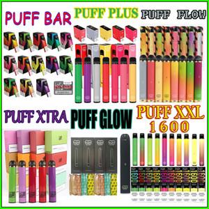 En stock Puff Series jetables Vape Pen e-cigarette appareil portable Vaporisateurs vapeur pour SOUFFLE BAR PLUS XTRA FLUX GLOW XXL 1600 Meilleur prix