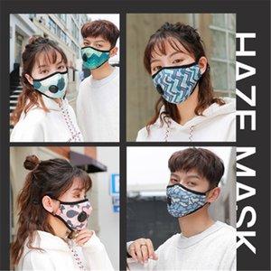 Máscara Facial com a respiração Aspirador Válvula várias cores mutável filtro Máscara Pads Dustproof pano de protecção com pacote de varejo DHC803