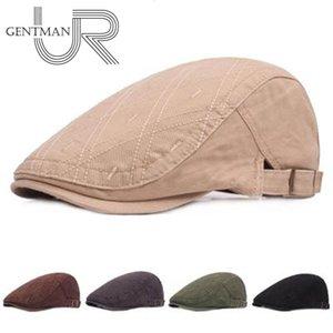Neue Sommer-Outdoor Sports Cap Male Cotton Berets für Männer-Frauen-beiläufige Schirmmützen Punkt-Entwurfs-stilvoller Barette Hüte