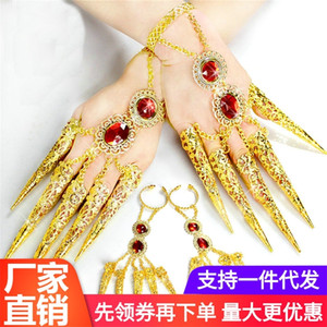 Special offer Thousand-Hand Guanyin nail set lengthened buckle Indian performance accessories belly dance jewelry bracelet