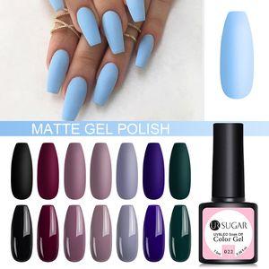 UR SUGAR 7.5ml UV Gel Nail Polish Solid 62 Color Soak Off UV Gel Varnish Color Nail Polish DIY Art varnish