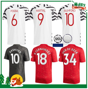 Kit hommes adultes + enfants 2020 2021 Manchester B.FERNANDES GREENWOOD Pogba maison Rashford maillot de football 20 21 UNITED Sport maillot de football