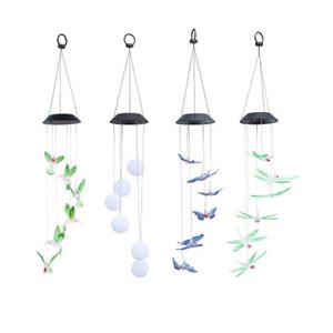 borboleta Solar lâmpada LED Hummingbird Luz Wind Chimes luz da lâmpada impermeável Eco-Friendly Supplies Wind Chimes Início Garden Party Decor