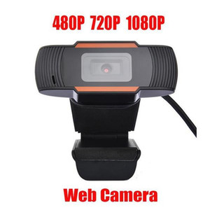 2020 ruotabile HD Webcam del PC Mini USB 2.0 Web Camera di registrazione video ad alta definizione 1080p / 720p / 480p immagini True Color