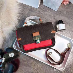 Высокое качество классический старый телячьей декоративный край цвет, соответствующий мешок женщин, с большим замком модно все вокруг Почтальон мешок handba