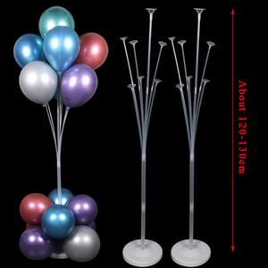 2set 130cm Balon Tutucu Balonlar Sütun Çocuklar Yetişkin doğum günü partisi Bebek Düğün Dekorasyon Ballons Aksesuarları Standı