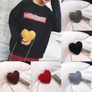 OCARDIAN Heart Shaped Алмазы женщин Вечерние сумки цепи плеча кошелек день Клатчи Сумка Crossbody сумки для женщин сумки О30