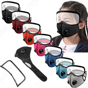 2 In 1 Children's Cycling Mask Outdoor Sunscreen Dustproof Breathable With Detachable Eye Mask Melt Blown Cloth Sports Mask DHA986