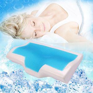 Memory Foam Gel Pillow Slow Rebound Anti-snoring Ice-cool Sleeping Pillow Orthopedic Soft Healthcare Neck Home Bedding