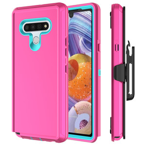 For LG Stylo 6 K51 Case Heavy Duty Full-Body Resistant Rugged Shockproof Holster Belt Clip Cover with Built-in Screen Protector Kickstand