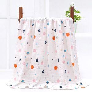 Baby Towel Cotton Gauze Towel Muslin Gauze Absorbed Towel Baby Bath Towels Large Baby Swaddling Wrap Nursery Bedding Sheet 33 Designs BT5986