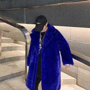 Manteau d'hiver long et veste en fausse fourrure pour hommes coréenne Mode Vêtements Designer Automne Trench Veste coupe-vent expédions Hop Streetwear