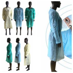 غير المنسوجة الدعاوى ملابس واقية العباءات يمكن التخلص منها الملابس الغبار overclothes حماية الهواء الطلق عموما مآزر المنزل الكبار CYF4412