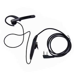 2pcs lot 2 Pin Ear Bar Earpiece Mic PTT Headset for Kenwood BAOFENG Walkie Talkie UV-5R 777 888s HYT PUXING Two Way Radios