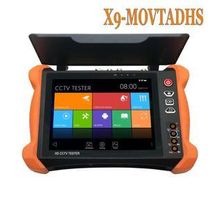 CCTV Tester Tools X9 8inch H.265 4K 8MP TVI CVI AHD SDI CVBS IP Camera Tester Monitor with TDR, Cable tracer