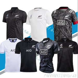 2020 nueva llegada Todo Negro Super Rugby Sevens Rugby Jerseys Camisa Camiseta Maillot Maglia Tops S-5XL Kit