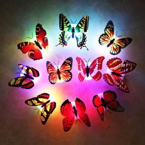 20 шт. / Лот Цвет Свет Бабочка Наклейки на стену Легкая Установка Ночной Легкий Дом Животный Коблет Комната Фредаж Спальня Декор