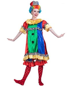 Clown Suit Fashion Cosplay Hallows Day Designer Theme Costume Pretty Clown Halloween Party Dress Cosplay Cute