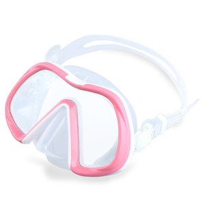 Cute girl single lens large frame swimming mirror anti fog tempered glass diving surface mirror deep diving breathing mask glasses