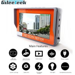 5 / 4,3 pulgadas 5/8 megapíxeles de cámara CCTV Tester AHD Tester Monitor de TVI CVI CVBS monitor HD Display de vídeo portátil con LED