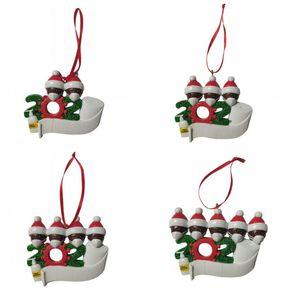Merry Christmas Tree Ornaments Смола маска снеговик Wear Маска Смола украшение 2020 Новое прибытие 10 5hm H1