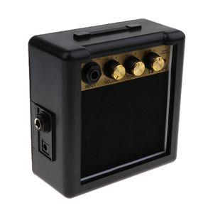 Mini Portable Guitar Amlifier Speaker Parts for Electric Guitar Practice 120x120x60mm Black