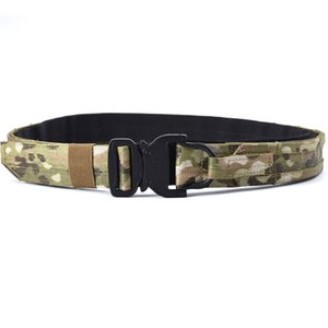 Tactical belt 1.5 inch outdoor belt metal buckle fashion training for soldiers inside and outside combat waistban