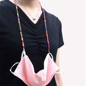 7 estilo máscara de contas cadeia de Extensão Madeira Colares do colar de contas de jóias rodada titular de madeira Beads Decor máscara facial HHC1361