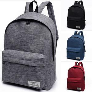 NoEnName-Null 1PC Стильный Женщины Мужчины плеча Холст Портативный Большой рюкзак рюкзака College School Bag Путешествия Туризм сумка