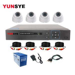 مراقبة داخلي نظام الأمن YUNSYE 4CH 1080N AHD DVR كيت 4PCS 720P / 1080P الأشعة تحت الحمراء قبة AHD HD كاميرا CCTV كيت