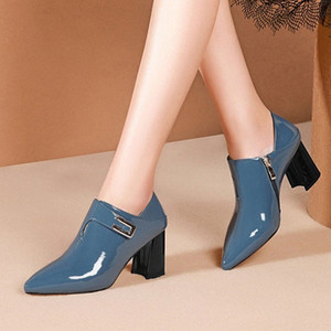 Women Pumps Genuine Leather Lady Shoes Pointed Toe Dress Party High Heels Cow Leather Girls Platform Pumps Shoes Size 34 42 Designer S ThDP#