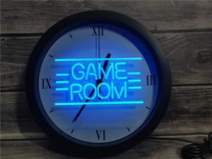 0B338 GAME غرفة عرض ألعاب TV APP RGB LED ضوء النيون علامات ساعة الحائط