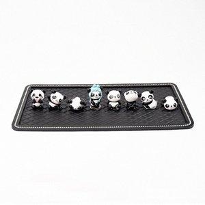 8pcs super nette Mini-Pandas Ornament Schöne Auto-Innendekoration Armaturenbrett Puppen mit Anti-Rutsch-Matte Großen Geschenk für Männer Frauen 6NS8 #