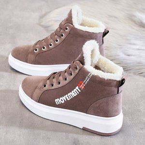 Winter Ankle Boots Women Warm Thick Plush Suede Snow Boots Female PU Leather Sneaker Fur Shoes Women Botines Mujer 2020 200916